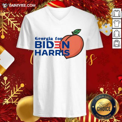 Georgia For Biden Harris Peach 2020 V-neck - Design By Fanatictees.com