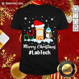 Nurse Santa Vaccine Merry Christmas #Lab Tech Shirt- Design By Daintytee.com