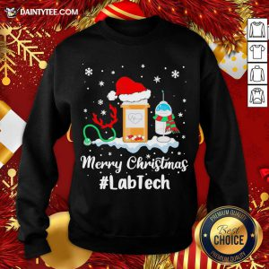 Nurse Santa Vaccine Merry Christmas #Lab Tech Sweatshirt- Design By Daintytee.com