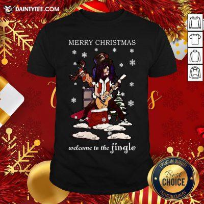 - Design By Daintytee.comGood Slash Welcome To The Jingle Christmas Jumper Shirt