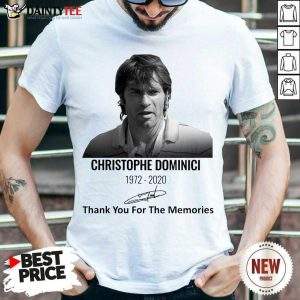 Christophe Dominici 1972 2020 Thank You For The Memories Signature Shirt- Design By Daintytee.com