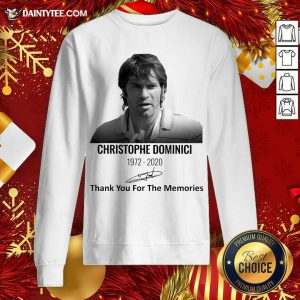 Christophe Dominici 1972 2020 Thank You For The Memories Signature Sweatshirt- Design By Daintytee.com