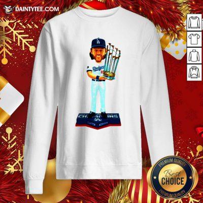 Hot Clayton Kershaw Los Angeles Dodgers 2020 World Series Champions MLB 2020 Sweatshirt- Design By Daintytee.com