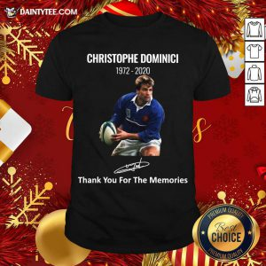Rip Christophe Dominici 1972 2020 Thank You For The Memories Signature Shirt- Design By Daintytee.com
