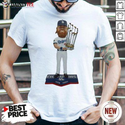Nice Justin Turner Los Angeles Dodgers 2020 World Series Champions Bobblehead Shirt- Design By Daintytee.com