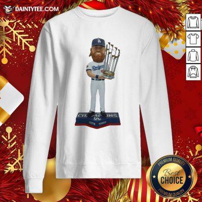 Nice Justin Turner Los Angeles Dodgers 2020 World Series Champions Bobblehead Sweatshirt- Design By Daintytee.com