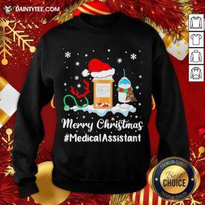 Nurse Santa Vaccine Merry Christmas #Medical Assistant Sweatshirt- Design By Daintytee.com