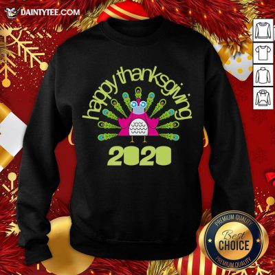 Official Happy Thanksgiving Turkey Face Mask Funny Quarantine Sweatshirt- Design By Daintytee.com