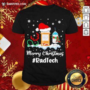 Nurse Santa Vaccine Merry Christmas #Rad Tech Shirt- Design By Daintytee.com