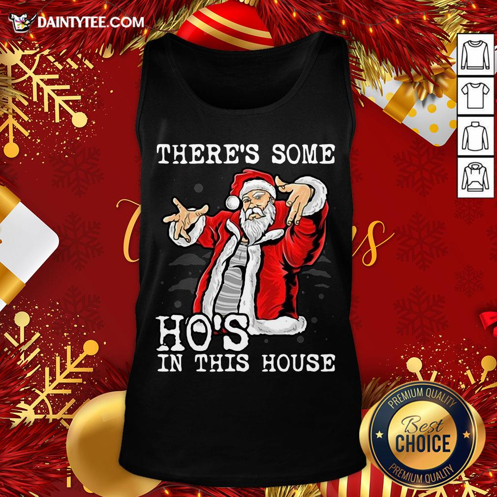 Official There's Some Ho's In This House Ugly Christmas Tank Top
