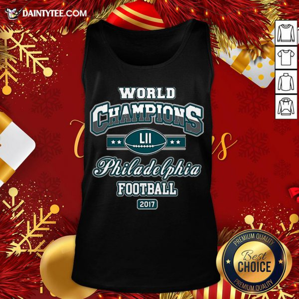 Official World Champion Philadelphia Football DT Adult Tank Top- Design By Daintytee.com