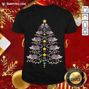 Christmas Opossums Tree Christmas Tree Lights Shirt- Design By Daintytee.com