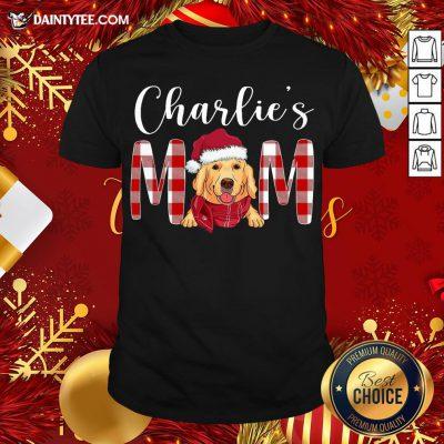 Original Golden Retriever Charlie's Mom Christmas Shirt- Design By Daintytee.com