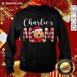 Original Golden Retriever Charlie's Mom Christmas Sweatshirt- Design By Daintytee.com