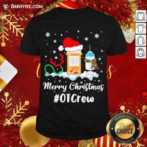 Nurse Santa Vaccine Merry Christmas #OT Crew Shirt- Design By Daintytee.com