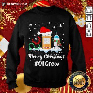 Nurse Santa Vaccine Merry Christmas #OT Crew Sweatshirt- Design By Daintytee.com