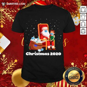 Original Santa With Face Mask And Toilet Paper Christmas 2020 T-Shirt- Design By Daintytee.com
