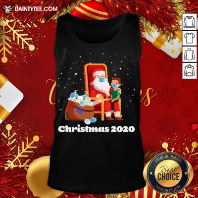 Original Santa With Face Mask And Toilet Paper Christmas 2020 Tank Top- Design By Daintytee.com