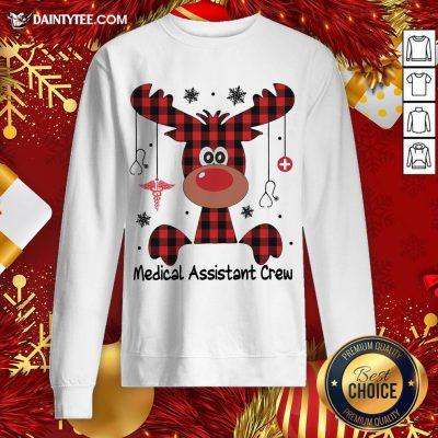 Perfect Reindeer Dispatcher Medical Assistant Crew Christmas Sweatshirt- Design By Daintytee.com