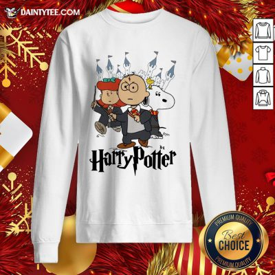 Perfect Snoopy Charlie Brown Lucy Van Pelt Harry Potter Sweatshirt- Design By Daintytee.com