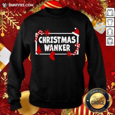 Premium Christmas Wanker Sweatshirt- Design By Daintytee.com