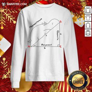 Hippopotenuse Adjacent Opposite Sweatshirt- Design By Daintytee.com