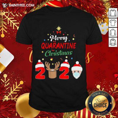 Premium Merry Quarantine Christmas 2020 Shirt- Design By Daintytee.com