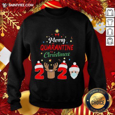 Premium Merry Quarantine Christmas 2020 Sweatshirt- Design By Daintytee.com