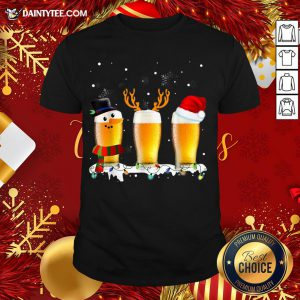Premium Santa Reindeer Beer Funny Alcohol Drinking Beer Christmas T-Shirt- Design By Daintytee.com