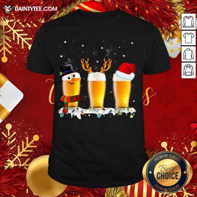 Premium Santa Reindeer Beer Funny Alcohol Drinking Beer Christmas T-Shirt- Design By Daintytee.com