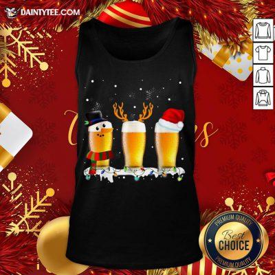 Premium Santa Reindeer Beer Funny Alcohol Drinking Beer Christmas Tank Top- Design By Daintytee.com