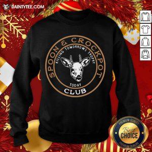 Spoon And Crockpot Club Sweatshirt- Design By Daintytee.com