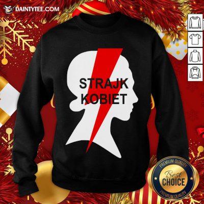 Premium Strajk Kobiet Women Poland Protest Support Polska Sweatshirt- Design By Daintytee.com