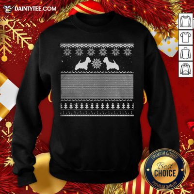 Westie Green Christmas Sweatshirt- Design By Daintytee.com