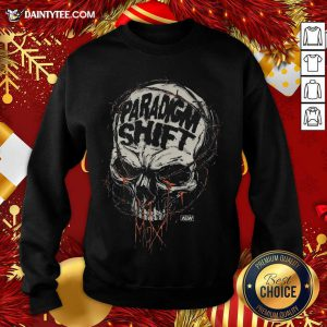 Jon Moxley Skull Paradigm Shift Sweatshirt- Design By Daintytee.com