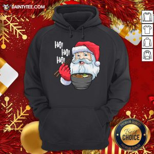 Pretty Santa Ramen Noodles Shirt Christmas Japanese Noodles Hoodie - Design By Daintytee.com