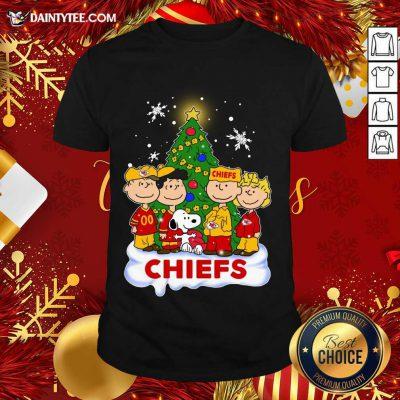 Snoopy The Peanuts Kansas City Chiefs Christmas Shirt- Design By Daintytee.com