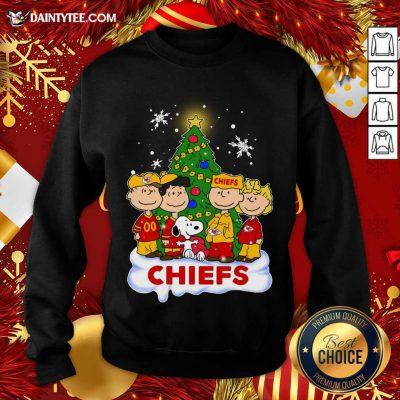 Snoopy The Peanuts Kansas City Chiefs Christmas Sweatshirt- Design By Daintytee.com