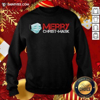 Xmas Merry Christ Mask 2020 Quarantine Christmas Sweatshirt- Design By Daintytee.com