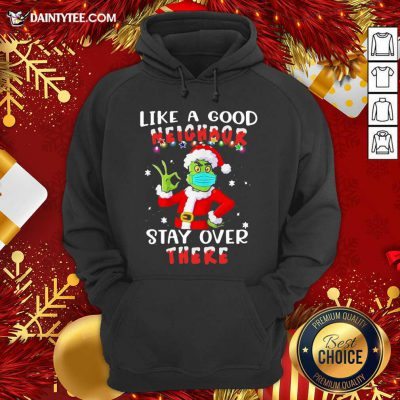 Like A Good Neighbor Stay Over There Ugly Christmas Hoodie- Design By Daintytee.com
