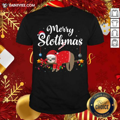 Merry Slothmas Sloth Funny Christmas Shirt- Design By Daintytee.com