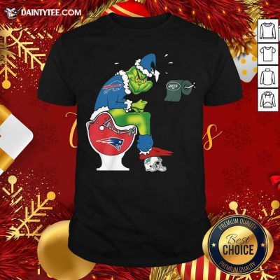 The Grinch Pittsburgh Steelers Shit On Toilet Cleveland Browns And Other Teams Christmas Shirt- Design By Daintytee.com