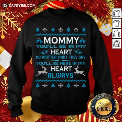 Mommy You'Ll Be In My Heart Always At Christmas Sweatshirt- Design By Daintytee.com