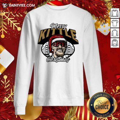 George Kittle Merry Kittle Christmas Sweatshirt- Design By Daintytee.com