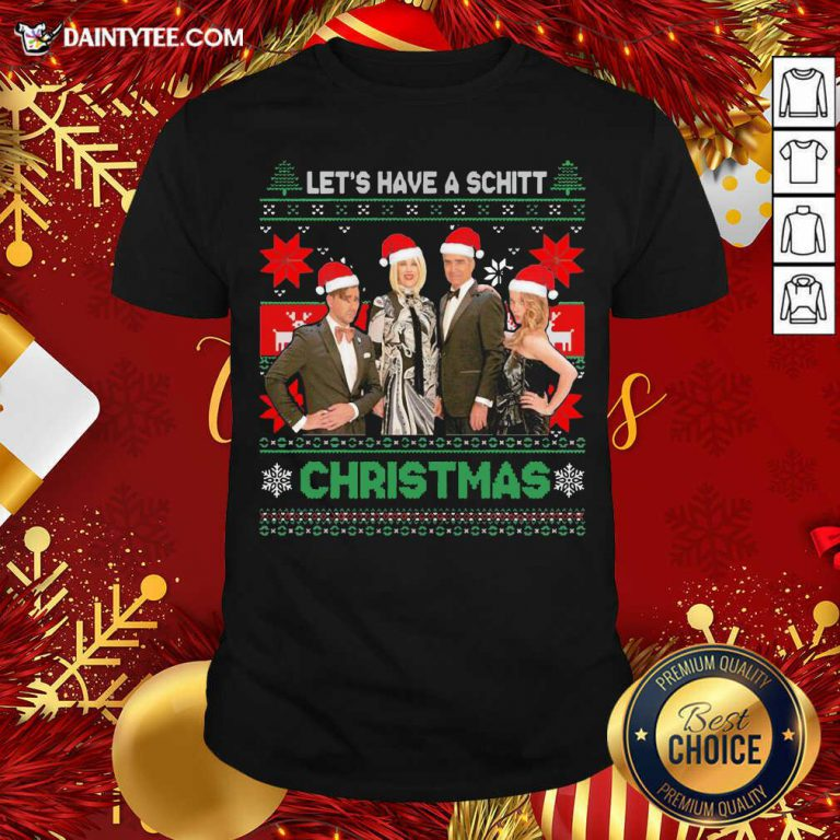 Schitts Creek Characters Lets Have A Schitt Christmas Shirt- Design By Daintytee.com