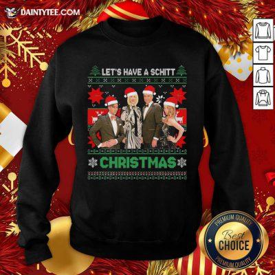 Schitts Creek Characters Lets Have A Schitt Christmas Sweatshirt- Design By Daintytee.com