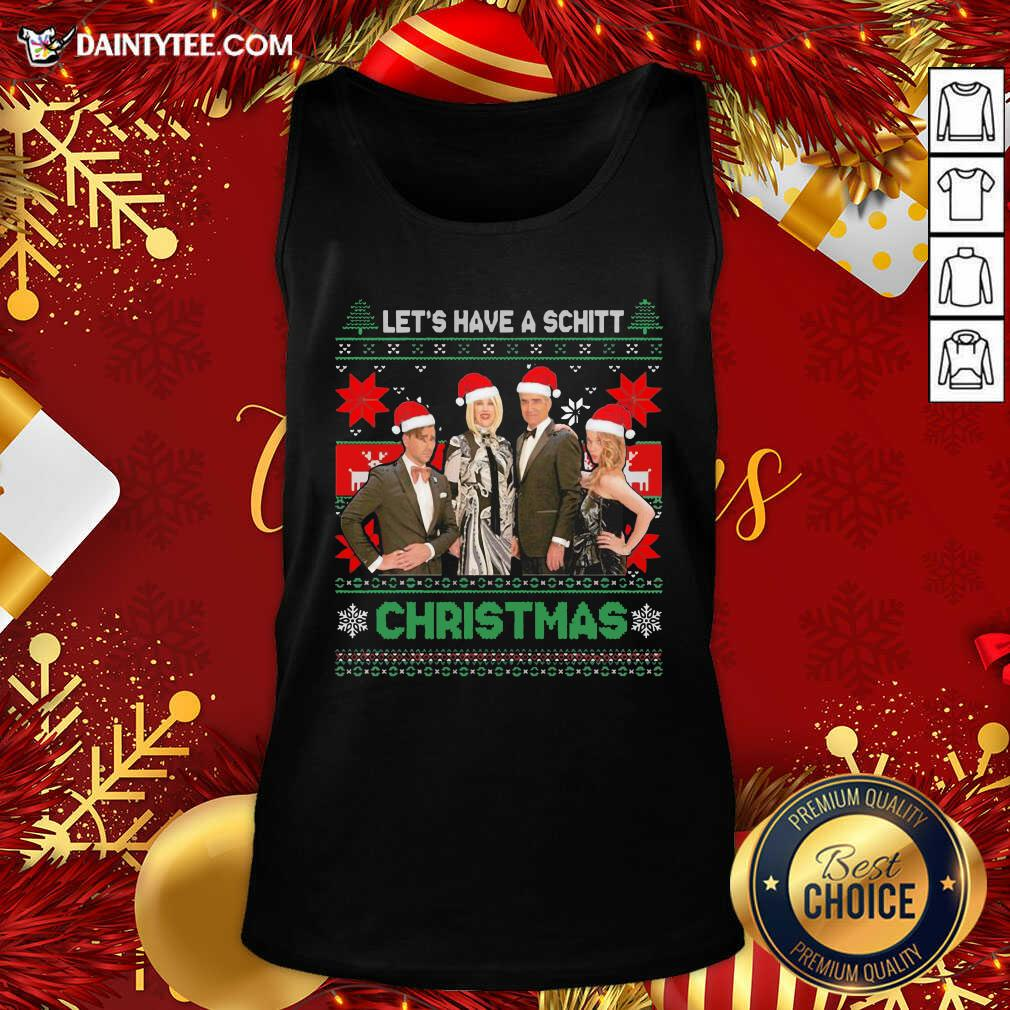 Schitts Creek Characters Lets Have A Schitt Christmas Tank Top- Design By Daintytee.com