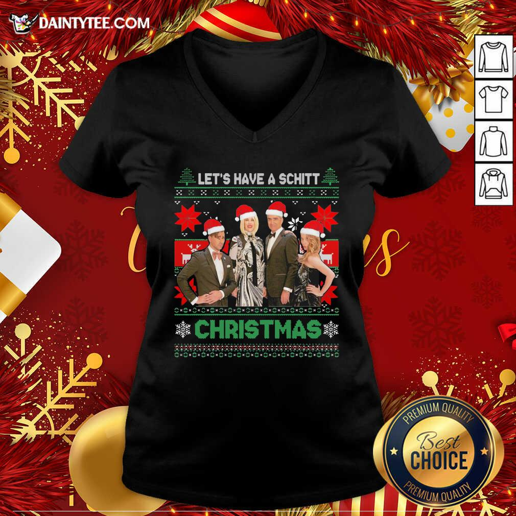 Schitts Creek Characters Lets Have A Schitt Christmas V-neck- Design By Daintytee.com