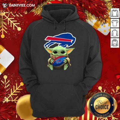 Baby Yoda Hug Buffalo Bills Football Hoodie- Design By Daintytee.com