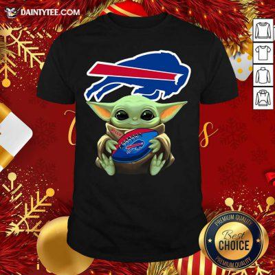 Baby Yoda Hug Buffalo Bills Football Shirt- Design By Daintytee.com